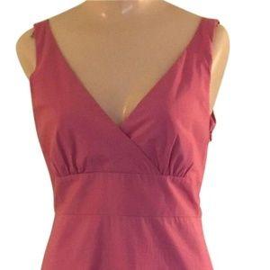 Sleeveless Cotton/blend Hot Pink Dress